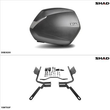 Shad SH36 Kit de valise - Latérale, Yamaha FZ09 2014-15