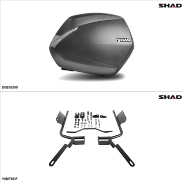 Shad SH36 Case kit - Lateral, Yamaha FZ09 2014-15