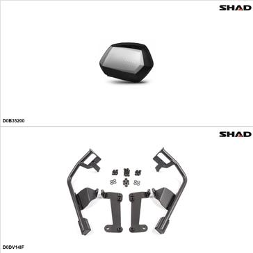 Shad SH35 Case kit - Lateral, Ducati Diavel 2014