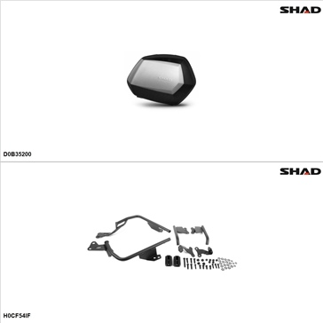 Shad SH35 Case kit - Lateral, Honda CBR500R 2013-14
