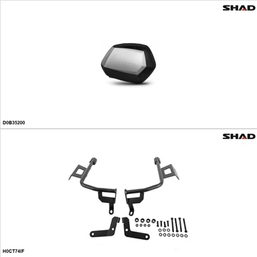 Shad SH35 Case kit - Lateral, Honda CTX700 2017