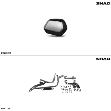 Shad SH35 Kit de valise - Latérale, Honda NC700S 2013