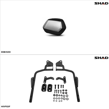 Shad SH35 Kit de valise - Latérale, Honda Interceptor 800 2002-09