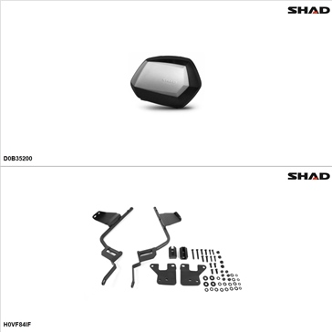 Shad SH35 Case kit - Lateral, Honda Interceptor 800 2014