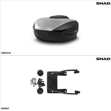 Shad SH59X Case kit - Top, BMW R1100R 1996-00