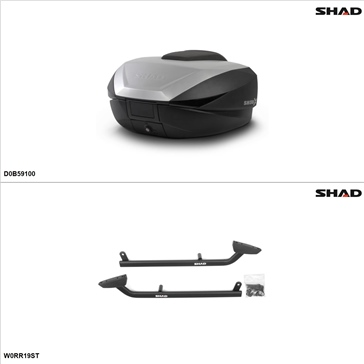 Shad SH59X Case kit - Top, BMW R1200R 2009-13