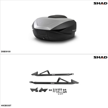 Shad SH59X Case kit - Top, Honda CB500F 2013, 15