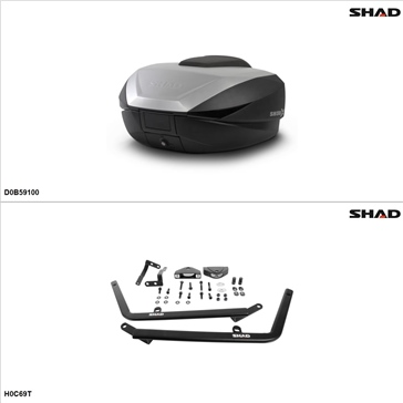 Shad SH59X Case kit - Top, Honda CBR600F4 1999-00