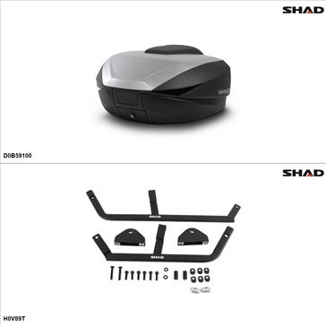 Shad SH59X Case kit - Top, Honda Interceptor 800 1999-01