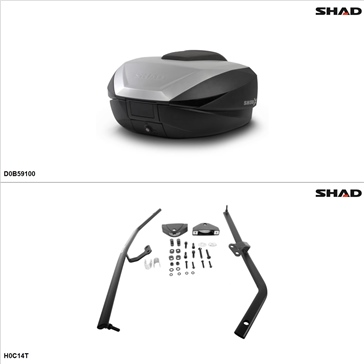Shad SH59X Case kit - Top, Honda CBR1000F 1994-96