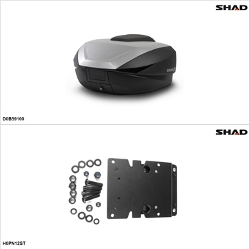 Shad SH59X Case kit - Top, Honda ST1300 2003-07