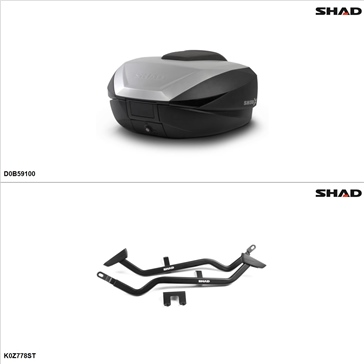 Shad SH59X Case kit - Top, Kawasaki Z1000 2007-08