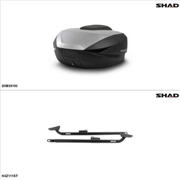 Shad SH59X Kit de valise - Supérieure, Kawasaki Z1000 2010-12