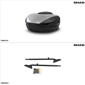 Shad SH59X Case kit - Top, Suzuki Bandit 1200 2001-04