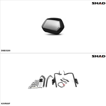 Shad SH35 Case kit - Lateral, Kawasaki Versys 650 2010-14