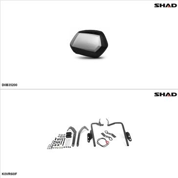 Shad SH35 Case kit - Lateral, Kawasaki Versys 650 2010-14