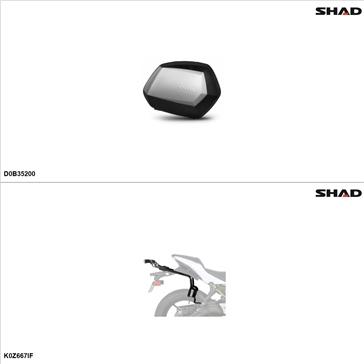 Shad SH35 Case kit - Lateral, Kawasaki Ninja 650 2017