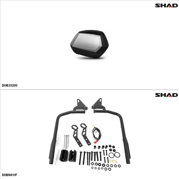 Shad SH35 Case kit - Lateral, Suzuki Bandit 1200 2005