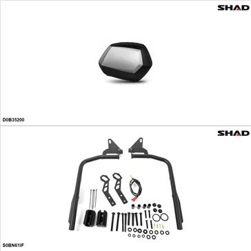 Shad SH35 Kit de valise - Latérale, Suzuki Bandit 1200 2005