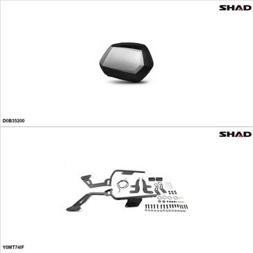 Shad SH35 Kit de valise - Latérale, Yamaha FZ07 2015