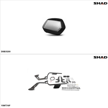 Shad SH35 Case kit - Lateral, Yamaha FZ07 2015