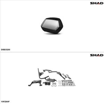 Shad SH35 Kit de valise - Latérale, Yamaha FZ8 2011-13