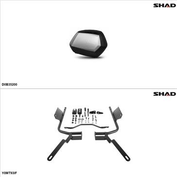Shad SH35 Kit de valise - Latérale, Yamaha FZ09 2014-15