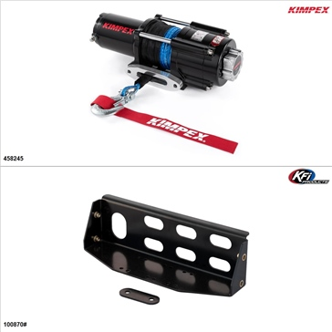 Kimpex 4500 lb Winch Kit - Synthetic, Honda Big Red 700 2009-13