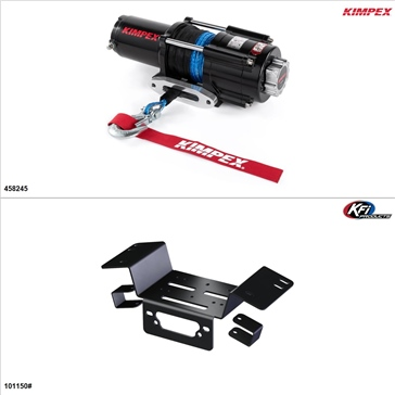 Kimpex 4500 lb Winch Kit - Synthetic, Honda Pioneer 700 2014-17
