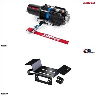 Kimpex 4500 lb Winch Kit - Synthetic, Honda Pioneer 700-4 2014-21