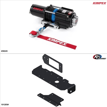 Kimpex 4500 lb Winch Kit - Synthetic, Honda Pioneer 1000 2016-17