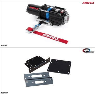Kimpex 4500 lb Winch Kit - Synthetic, Kawasaki Teryx 750 2008-13