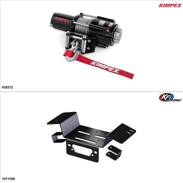 Kimpex 4500 lb Winch Kit - Steel, Honda Pioneer 700-4 2014-21