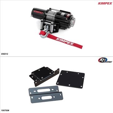 Kimpex 4500 lb Winch Kit - Steel, Kawasaki Teryx 750 2008-13