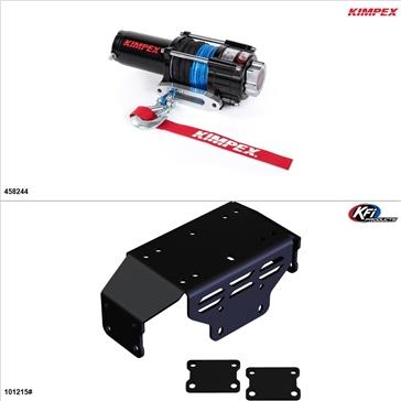 Kimpex 3500 lb Winch Kit - Synthetic, Honda Pioneer 500 2015-17