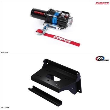 Kimpex 3500 lb Winch Kit - Synthetic, Kawasaki Mule PROFX 2016-17