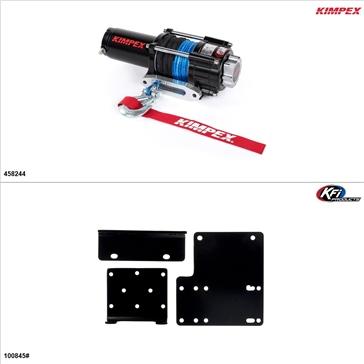 Kimpex 3500 lb Winch Kit - Synthetic, Kawasaki Mule 4000 2016-17