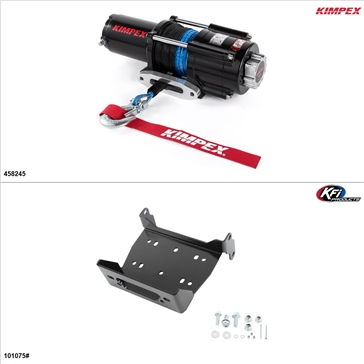 Kimpex 4500 lb Winch Kit - Synthetic, Yamaha Viking 700 2015-17