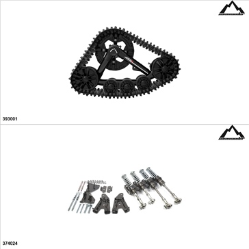 Commander WSS4 Kit de chenille UTV - 4 Saisons, Arctic Cat HDX 700 2016-17