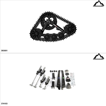Commander WSS4 UTV Track Kit - 4 Seasons, Can-Am Commander 1000 2011-17