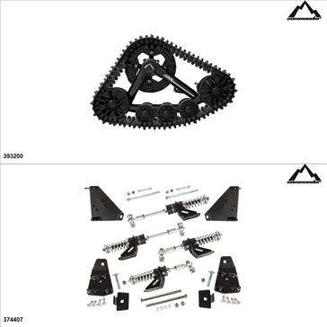 Commander WSS4 UTV Track Kit - 4 Seasons, Polaris RZR 900 2015-16