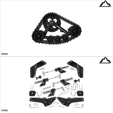 Commander WSS4 UTV Track Kit - 4 Seasons, Honda Pioneer 1000 2016-19