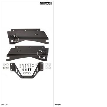 KimpexSeatJack - Passenger Seat Kit - Black, Polaris Indy 550 2014-16