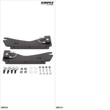 KimpexSeatJack - Passenger Seat Kit - Black, Ski-Doo MXZ 1200 2009-18