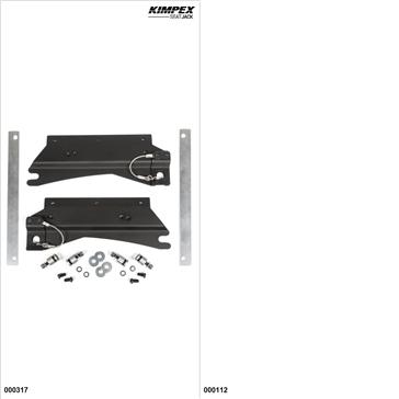 KimpexSeatJack - Passenger Seat Kit - Black, Polaris SwitchBack 600 2015-19
