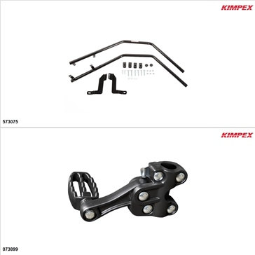 Kimpex - Fender Guards Kit - Black, Arctic Cat 400 2013-15
