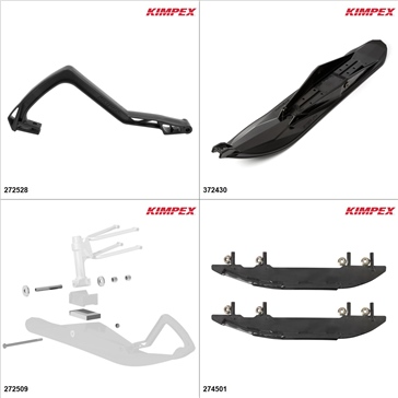 Kimpex - Ski Stealth Kit - Black, Yamaha Apex XTX 2011-18