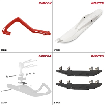 Kimpex - Ski Stealth Kit - White, Yamaha Apex 2008-18