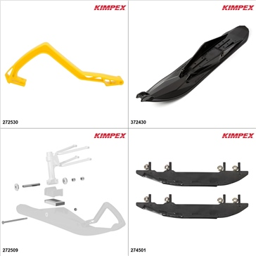 Kimpex - Ski Stealth Kit - Black, Yamaha Apex 2008-18