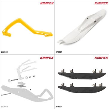 Kimpex - Ski Stealth Kit - White, Ski-Doo Grand Touring 600 2010-18